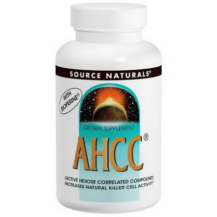 Source Naturals, AHCC with Bioperine, 500mg, 60 Capsules