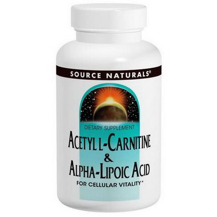 Source Naturals, Acetyl L-Carnitine&Alpha-Lipoic Acid, 650mg, 120 Tablets