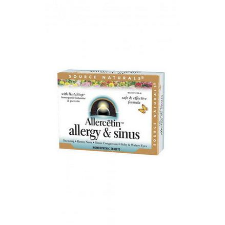 Source Naturals, Allercetin, Allergy&Sinus, 48 Homeopathic Tablets