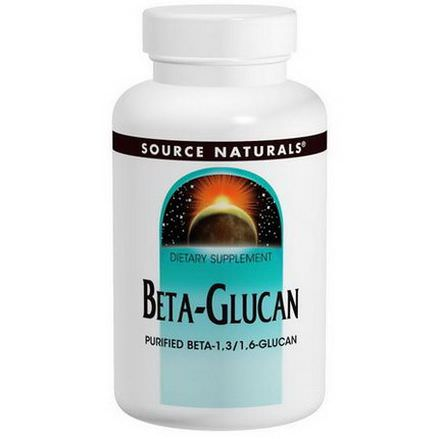 Source Naturals, Beta Glucan, 100mg, 30 Capsules