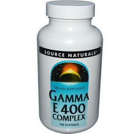Source Naturals, Gamma E 400 Complex, 120 Softgels