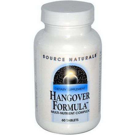 Source Naturals, Hangover Formula, Multi-Nutrient Complex, 60 Tablets