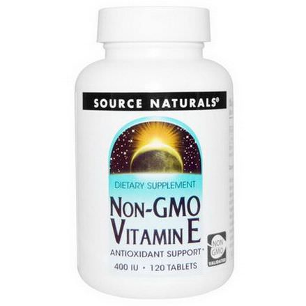 Source Naturals, Non-GMO Vitamin E, 400 IU, 120 Tablets