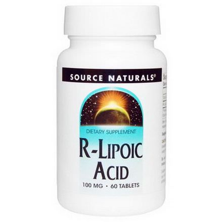 Source Naturals, R-Lipoic Acid, 100mg, 60 Tablets
