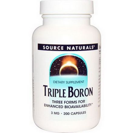 Source Naturals, Triple Boron, 3mg, 200 Capsules