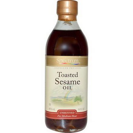 Spectrum Naturals, Toasted Sesame Oil, Unrefined 473ml