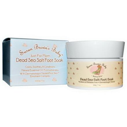 Susan Brown's Baby, Just For Mom, Dead Sea Salt Foot Soak 200g