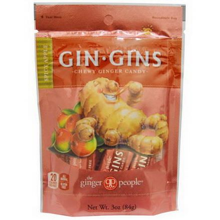 The Ginger People, Gin-Gins, Chewy Ginger Candy, Spicy Apple 84g