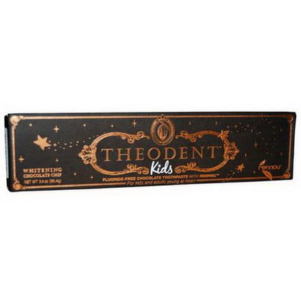 Theodent, Kids, Fluoride-Free Chocolate Toothpaste With Rennou, Whitening Chocolate Chip 96.4g
