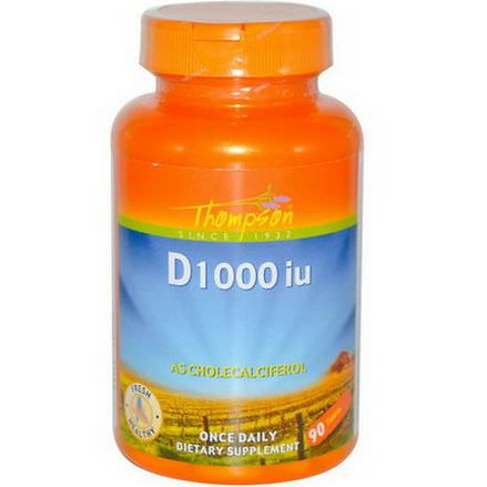 Thompson, D, 1000 IU, 90 Tablets