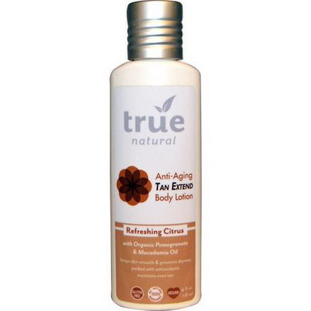 True Natural, Tan Extend Body Lotion, Refreshing Citrus 118ml