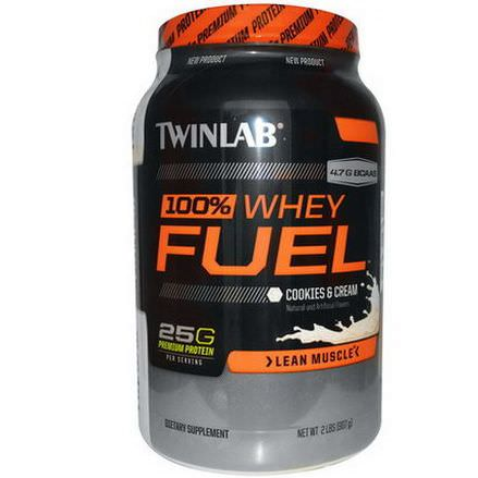 Twinlab, 100% Whey Fuel, Cookies&Cream 907g