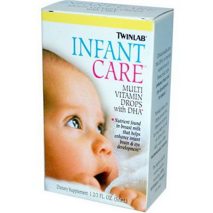 Twinlab, Infant Care, Multi Vitamin Drops With DHA 50ml