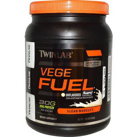Twinlab, Vege Fuel, Lean Muscle, Unflavored 535g Powder