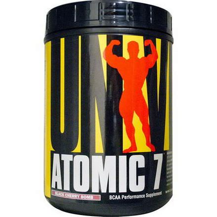 Universal Nutrition, Atomic 7, BCAA Performance Supplement, Black Cherry Bomb 1 kg