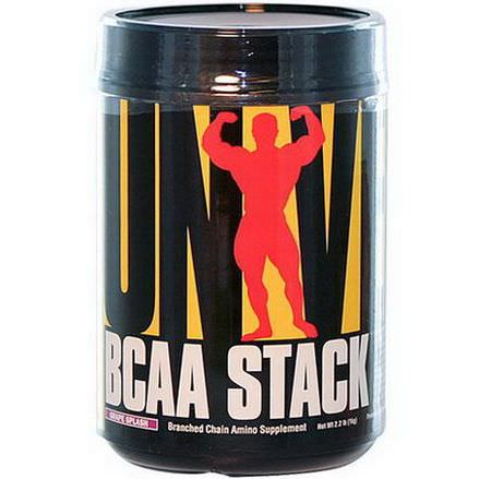 Universal Nutrition, BCAA Stack, Branched Chain Amino Supplement, Grape Splash 1 kg