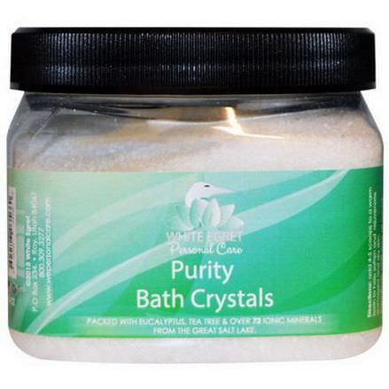 White Egret Personal Care, Purity Bath Crystals, 16 oz