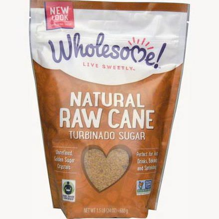 Wholesome Sweeteners, Inc. Natural Raw Cane, Turbinado Sugar 680g
