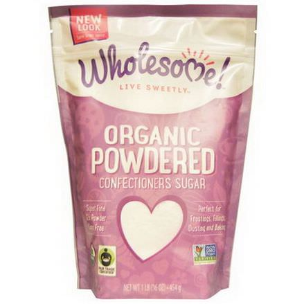 Wholesome Sweeteners, Inc. Organic Powdered Confectioners Sugar 454g