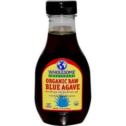 Wholesome Sweeteners, Inc. Organic Raw Blue Agave, Amber 333g