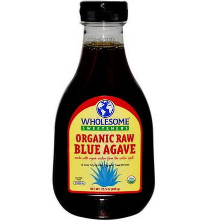 Wholesome Sweeteners, Inc. Organic Raw Blue Agave, Amber 666g