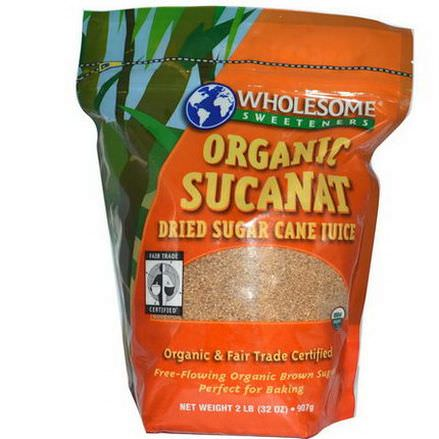Wholesome Sweeteners, Inc. Organic Sucanat, Dried Sugar Cane Juice 907g
