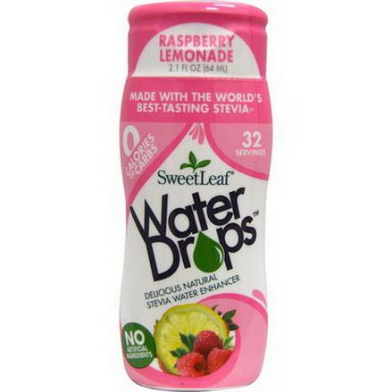 Wisdom Natural, SweetLeaf, Water Drops, Stevia Water Enhancer, Raspberry Lemonade 64ml
