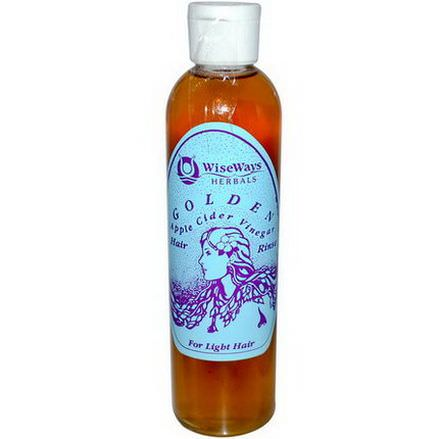 WiseWays Herbals, LLC, Golden, Apple Cider Vinegar Hair Rinse, 8 fl oz