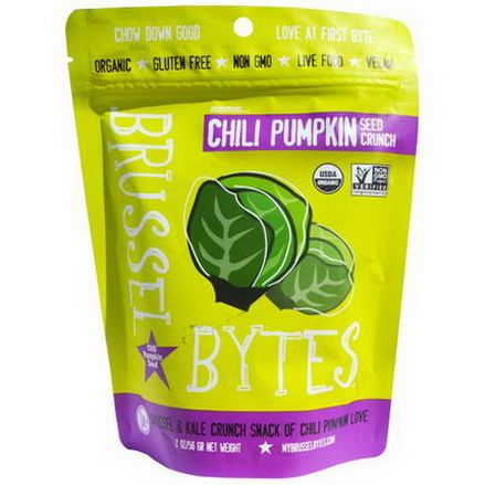 Wonderfully Raw Gourmet Delights, Brussel Bytes, Chili Pumpkin Seed Crunch 56g
