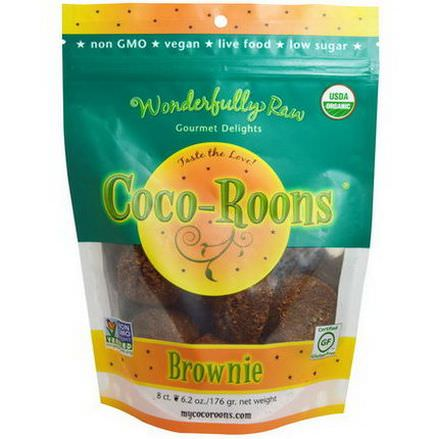 Wonderfully Raw Gourmet Delights, Coco-Roons, Brownie 176g