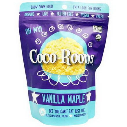 Wonderfully Raw Gourmet Delights, Coco-Roons, Vanilla Maple 176g