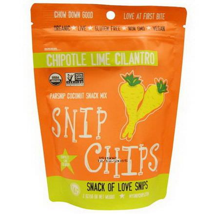 Wonderfully Raw Gourmet Delights, Snip Chips, Parsnip Coconut Snack Mix,Chipotle Lime Cilantro 56g
