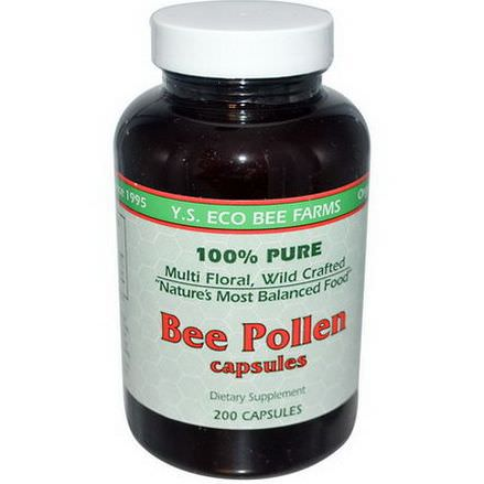 Y.S. Eco Bee Farms, Bee Pollen, 200 Capsules