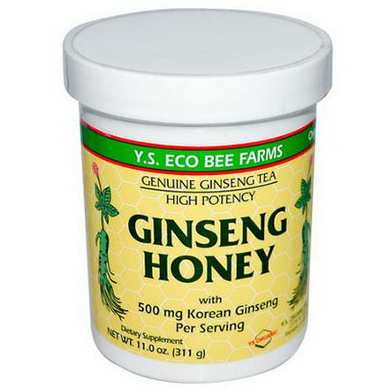 Y.S. Eco Bee Farms, Ginseng Honey 311g