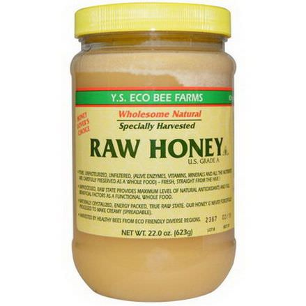 Y.S. Eco Bee Farms, Raw Honey, U.S. Grade A 623g