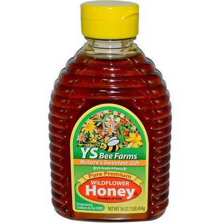 Y.S. Eco Bee Farms, Pure Premium Wildflower Honey 454g