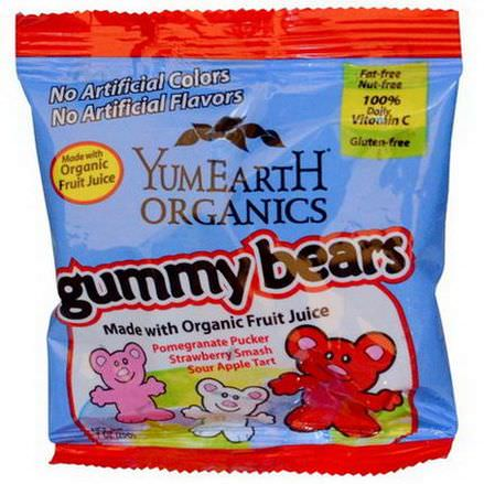YumEarth, Gummy Bears, 50 Snack Packs 20g Each