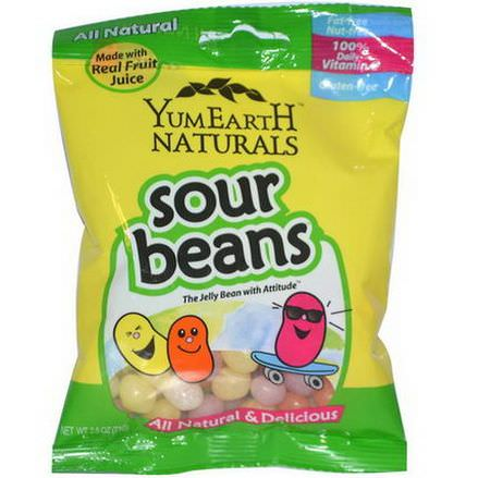 YumEarth, Naturals, Sour Jelly Beans, 12 Packs 71g Each