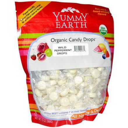 Yummy Earth, Organic Candy Drops, Family Size Bag, Wild Peppermint 369g
