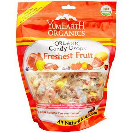 Yummy Earth, Organic Candy Drops, Freshest Fruit 368.5g