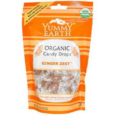 YumEarth, Organic Candy Drops, Ginger Zest 93.5g