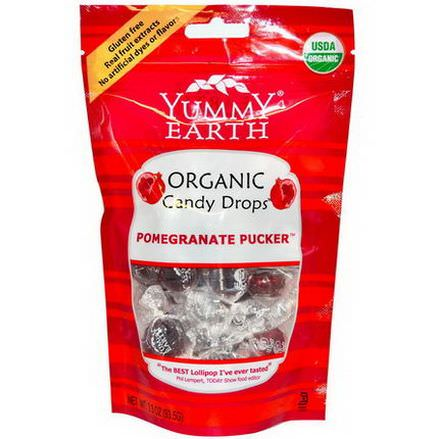 Yummy Earth, Organic Candy Drops, Pomegranate Pucker 93.5g