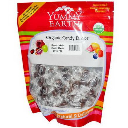 Yummy Earth, Organic Candy Drops, Roadside Root Beer 369g