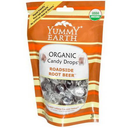 Yummy Earth, Organic Candy Drops, Roadside Root Beer 93.5g