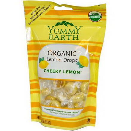 YumEarth, Organic Lemon Drops, Cheeky Lemon 93.5g