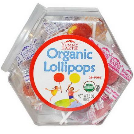 Yummy Earth, Organic Lollipops, 25+ Pops 170g