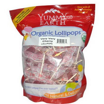 YumEarth, Organic Lollipops, Very Very Cherry 349g