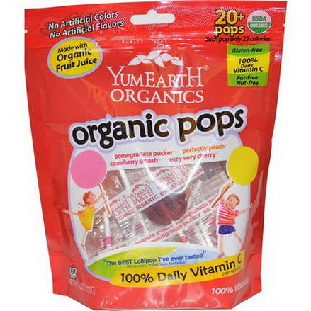 Yummy Earth, Organic Pops, 20+ Pops 119g