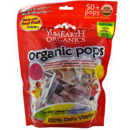 Yummy Earth, Organic Pops, Assorted Flavors, 50+ Pops 349g