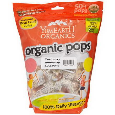 Yummy Earth, Organic Pops, Tooberry Blueberry Lollipops, 50+ Pops approx 349g